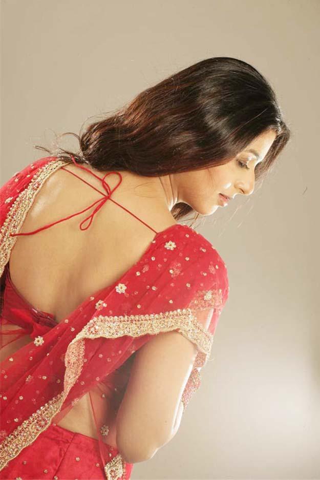 Beautiful bhoomika photoshoot in red saree
