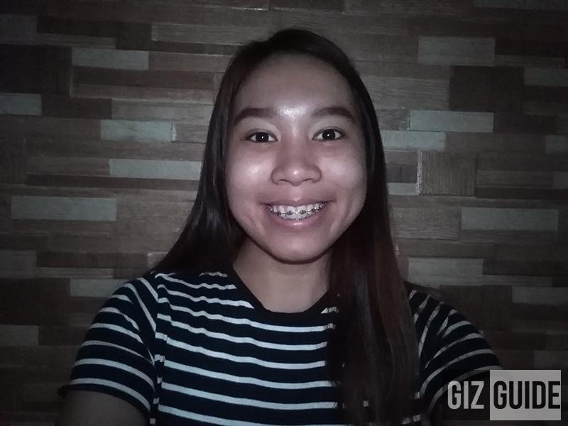 Low-lighted selfie