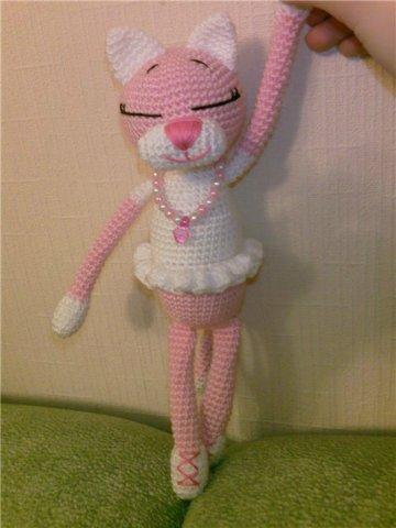 эль куча амигуруми кошка балерина вязаная крючком описание
