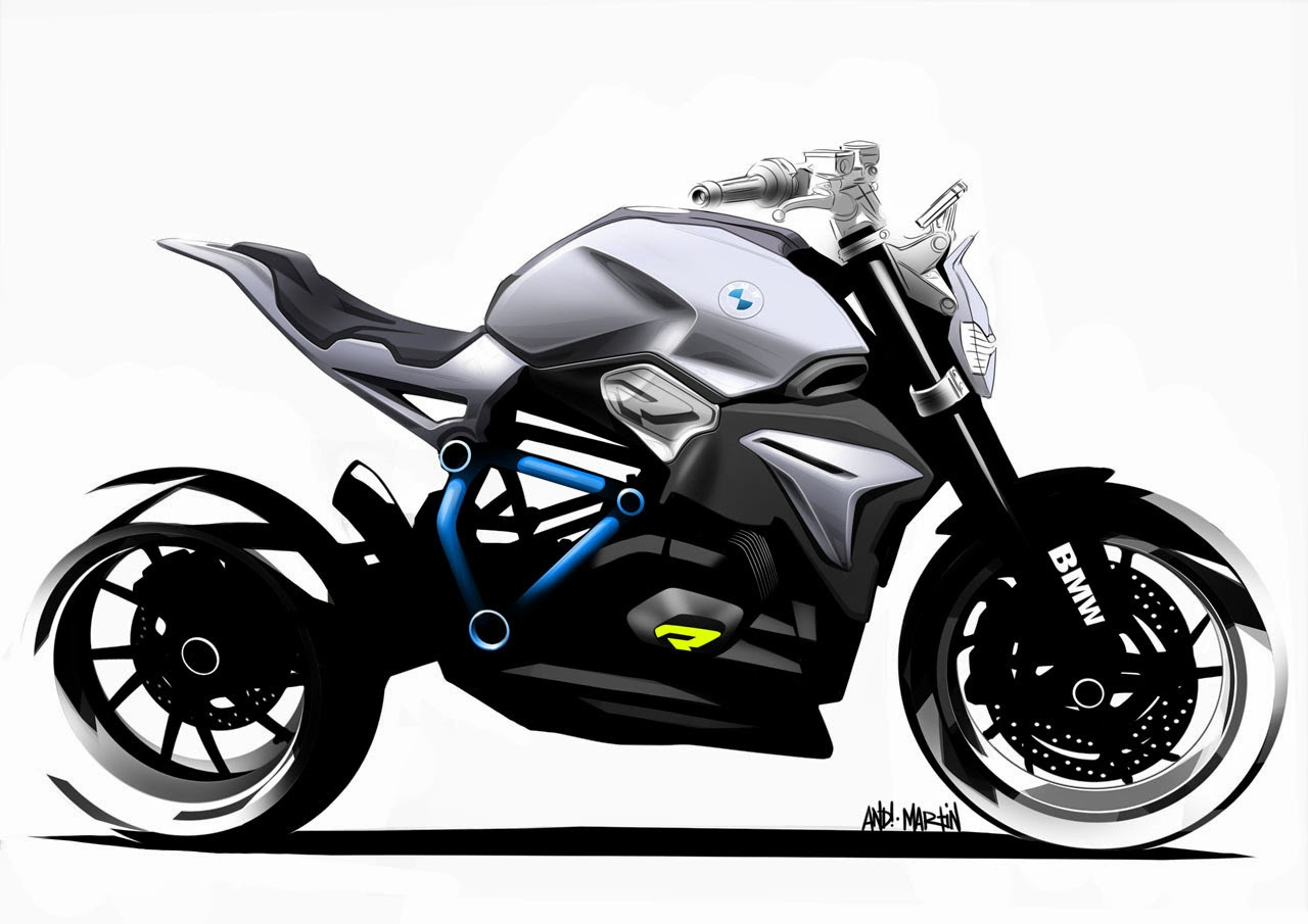 bmw concept roadster motorcycle sketches photos latest. Black Bedroom Furniture Sets. Home Design Ideas