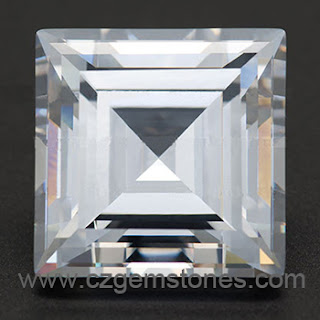 step cut square cubic zirconia stones
