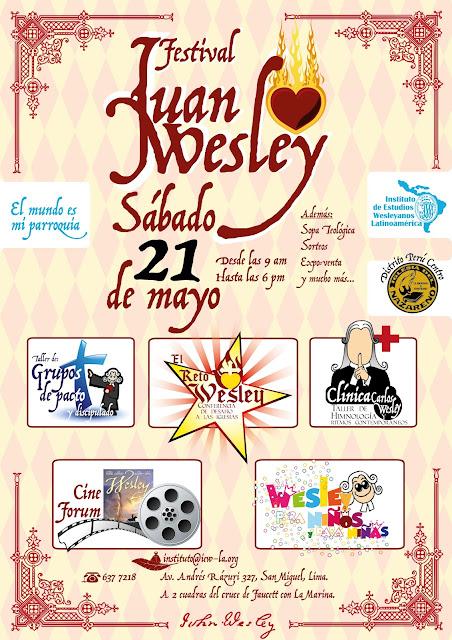 Festival Juan Wesley en Lima: Conferencia, talleres y cine forum sobre teología wesleyana