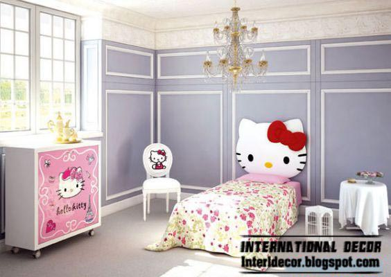 hello kitty girls bedroom themes and furniture style for modern girls room