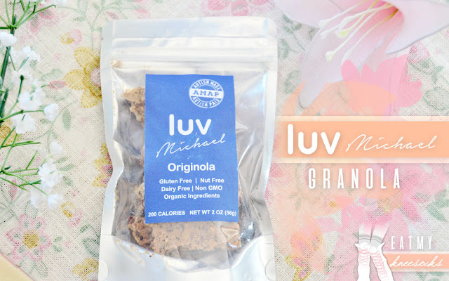 Today's review focuses on a special food company with a truly inspirational mission: Luv Michael. They sent me a pack of their unique Originola Granola to try out, made of all-natural, gluten-free ingredients. Review ahead! - Eat My Knee Socks / Mimchikimchi