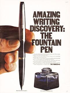 vintage fountain pen print advertisment