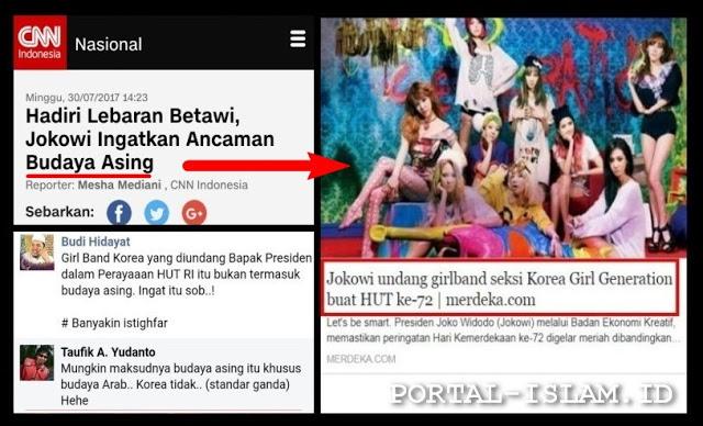 Jokowi Ingatkan Ancaman Budaya Asing, Tapi Kok Malah Undang Girlband Korea? Netizen: Maksud Asing itu Arab