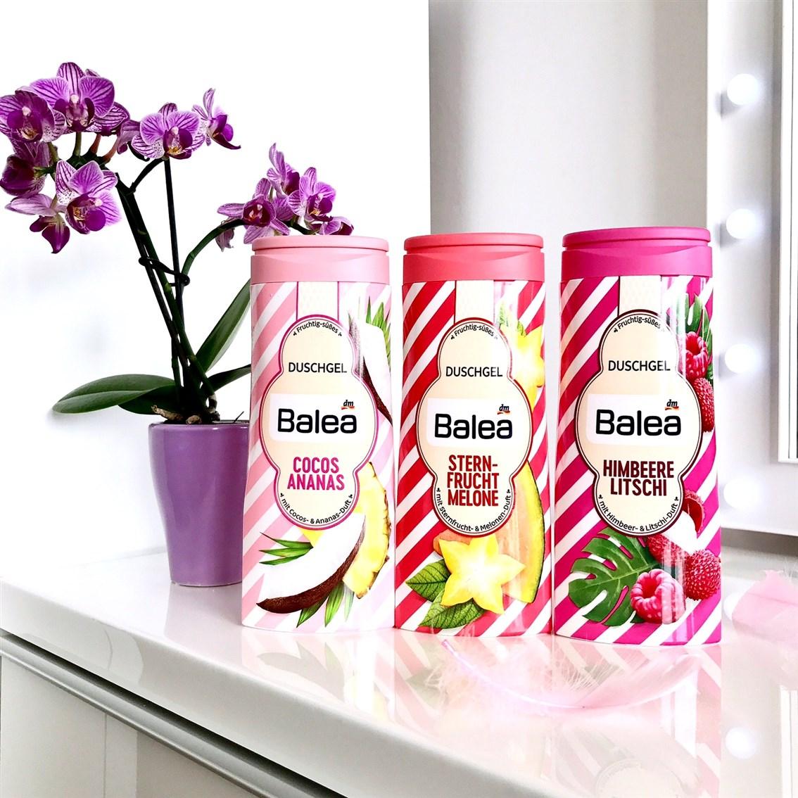 zdjęcie limitowanych żeli pod prysznic Balea