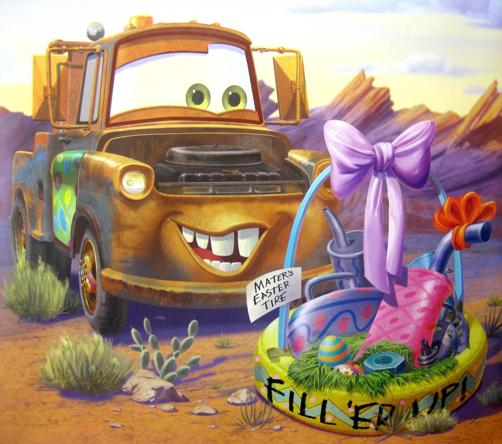 cars mater and the easter buggy