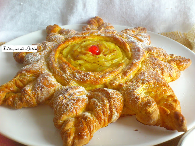 Pan dulce con flor de manzana