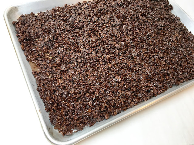 Tray of Mocha Cocoa Pebbles