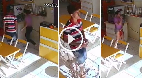 [ VIDEO ] Bandido rouba sorveteria e estupra atendente em Manaus