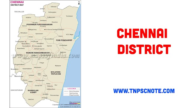 Chennai District Information, Boundaries and History from Shankar IAS Academy