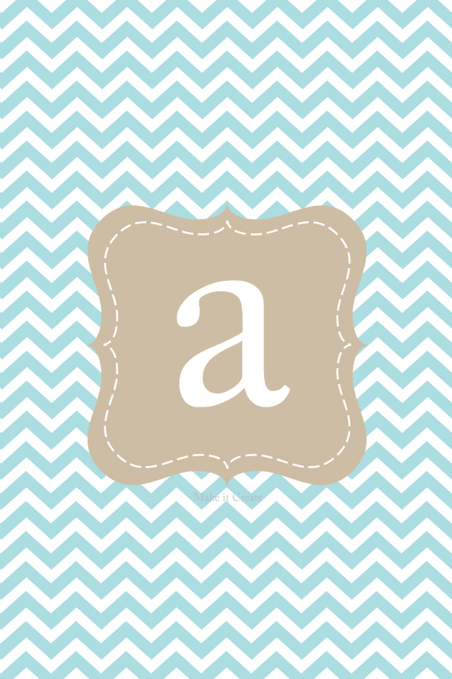chevron initials wallpaper with o - photo #3