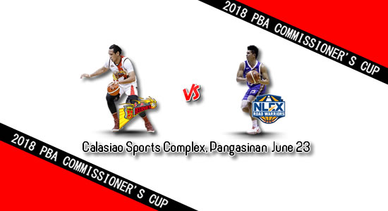 List of PBA Games: June 23 at Calasiao Sports Complex, Pangasinan 2018 PBA Commissioner's Cup