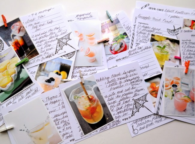 Canvas Corp Mixology Recipe Cards by Dana Tatar