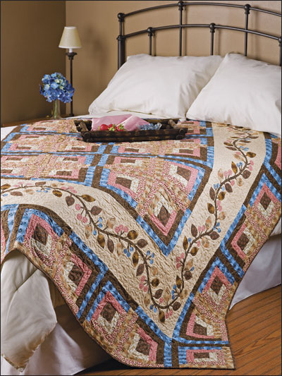 Chocolate, Cherries & Blueberries Quilt designed by Jean Ann Wright of FreePatterns