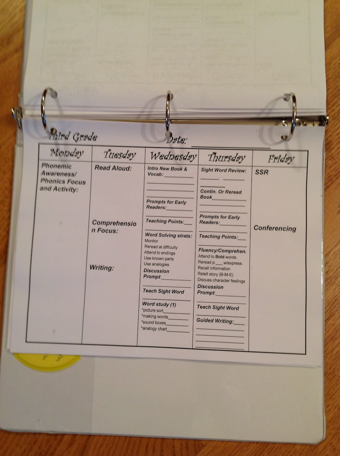 Conversations In Literacy Guided Reading Plans