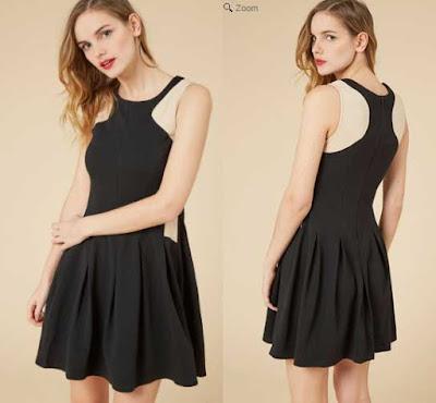 Vestido negro de Molly Bracken