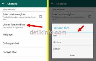 Cara ubah ukuran Huruf di whatsapp Android