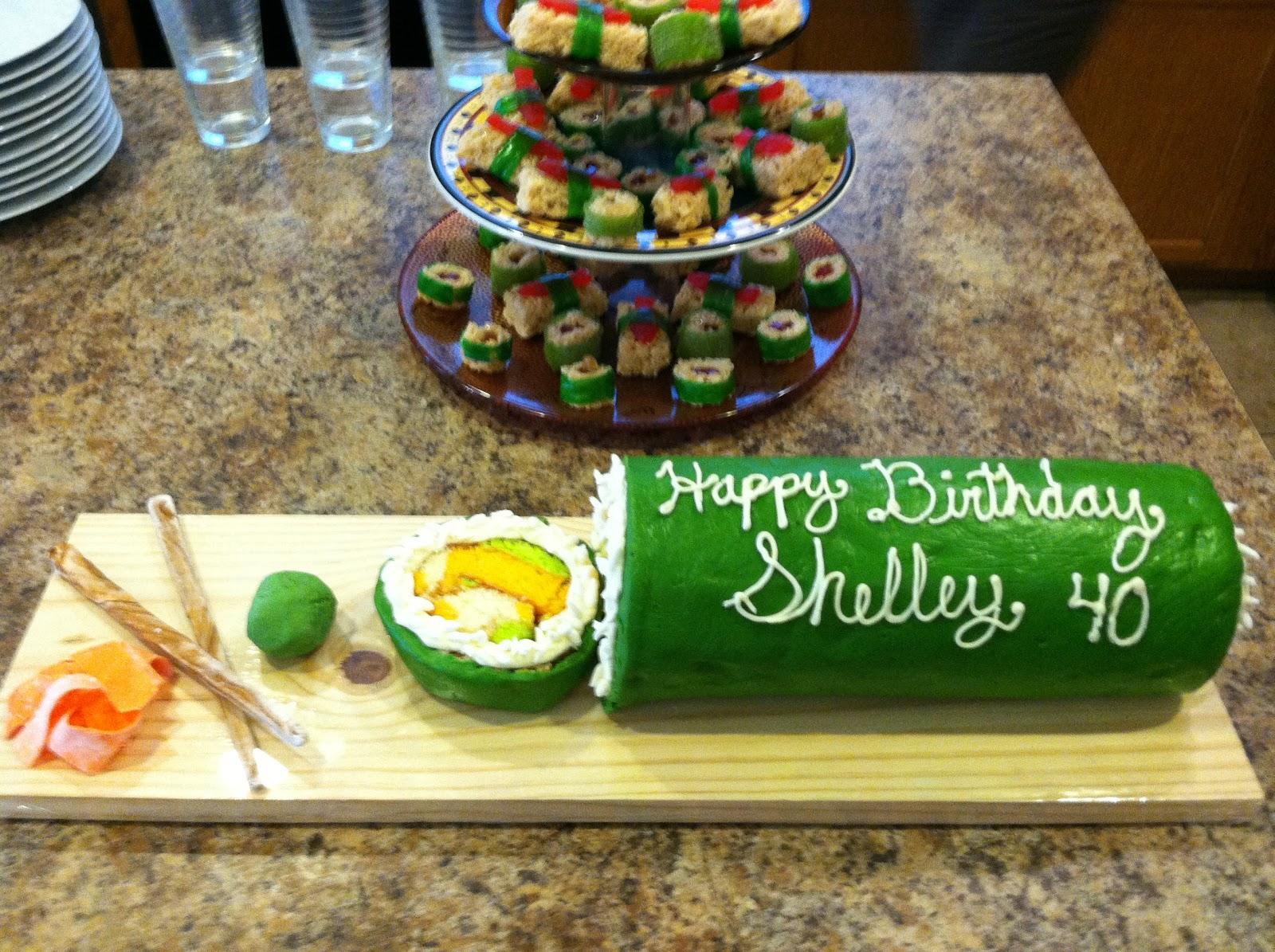 seeshellspace Sushi Cake and my Milestone Birthday