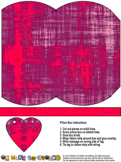 Cajas Almohada a Rayas y Colores para Imprimir Gratis.