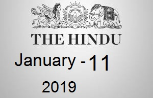 The Hindu Newspaper Today 11 January 2019 Download PDF