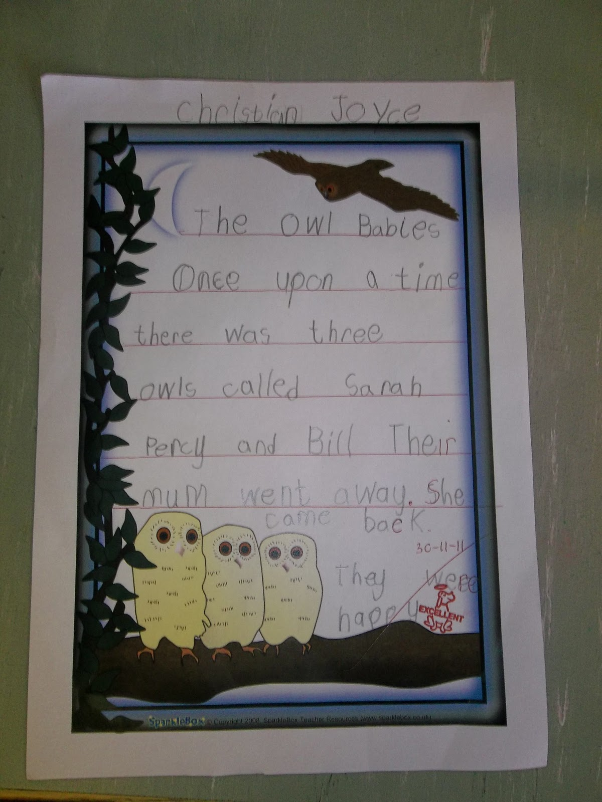 Literacy Site More About Owl Babies In Senior Infants