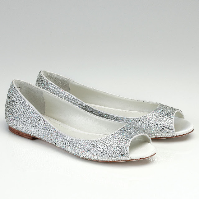 Silver Flats For Wedding