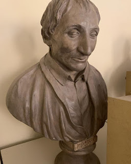 A 19th century bust of Pistocchi on display at the Biblioteca della Musica in Bologna.