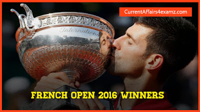 French Open Tennis 2016 Winners