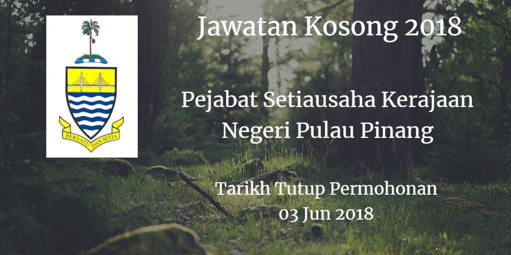 Jawatan Kosong SUK Pulau Pinang 03 Jun 2018