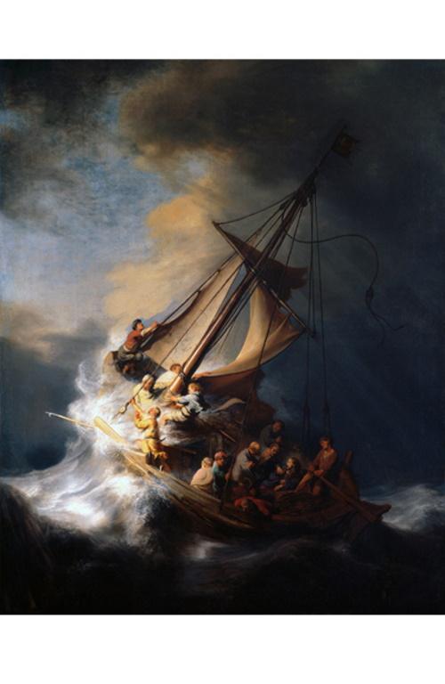 #PraCegoVer: Tempestade no Mar da Galileia, obra do pintor holandês Rembrandt.