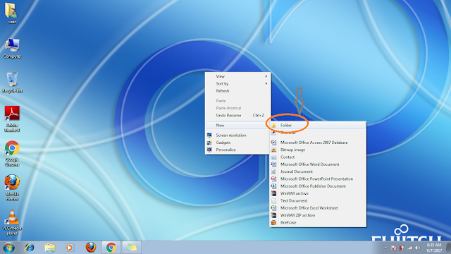 how to create a folder in windows 7