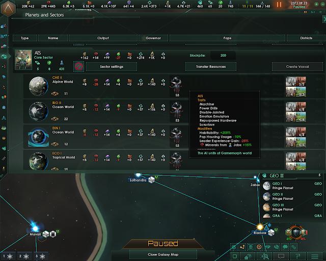 Planets and Sectors | Stellaris: MegaCorp screenshot