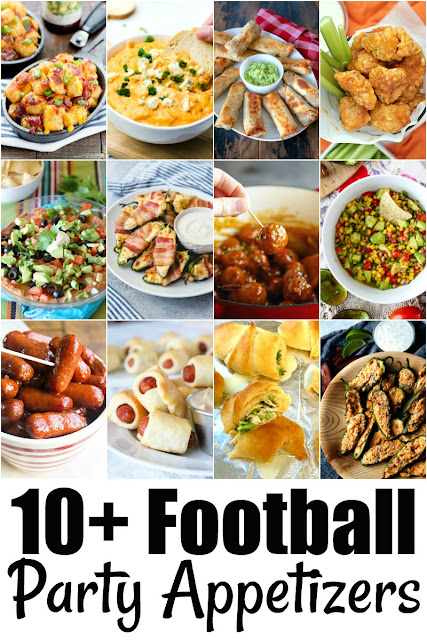 Plan a tasty game day menu with these 10+ Football Party Appetizer Recipes!