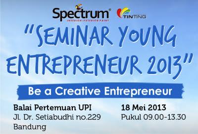 Info: Seminar Spectrum Young Entrepreneur 2013