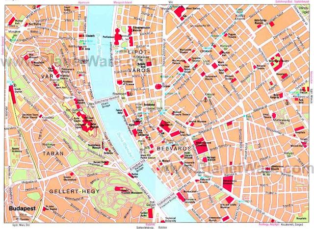 Budapeste city map