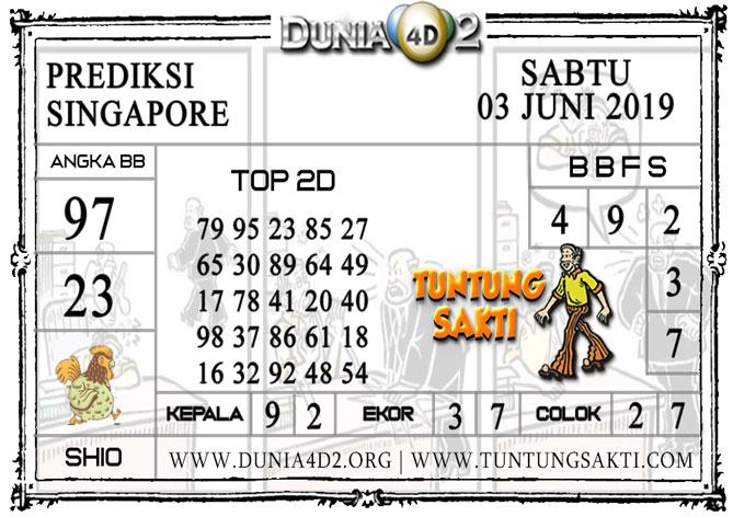 """Prediksi Togel """"SINGAPORE"""" DUNIA4D2 03 JUNI 2019"""