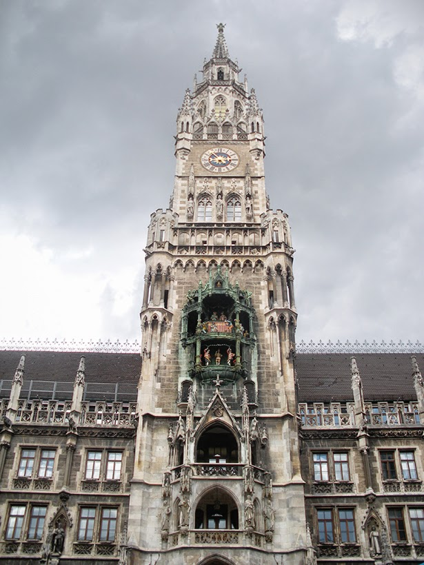 The Glockenspiel in Munich, Germany