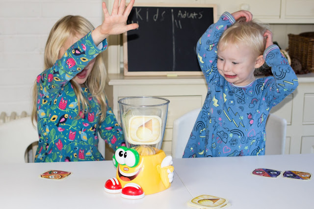 Tensions mount in the Little Tikes Crazy Blender game