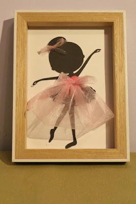 DIY baletnica w ramce