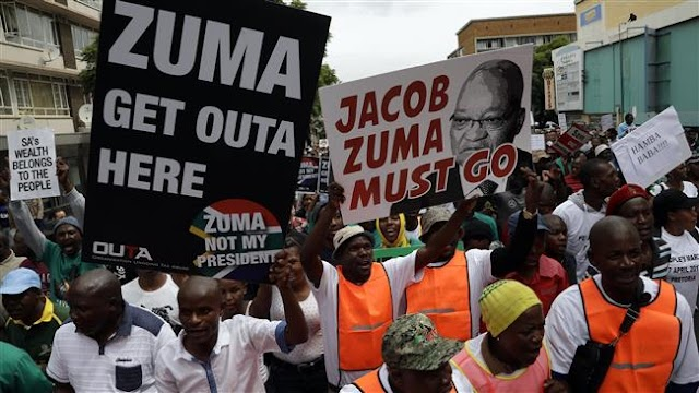 South Africans hold nationwide protests against Jacob Zuma