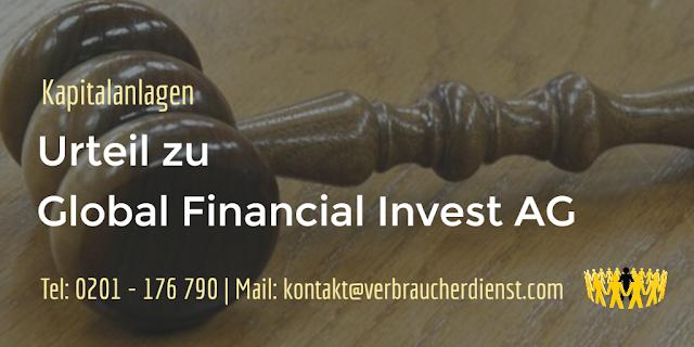 Beitragsbild: Urteil zu Global Financial Invest AG (GFI AG)