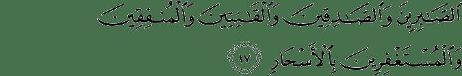 Surat Ali Imran Ayat 17
