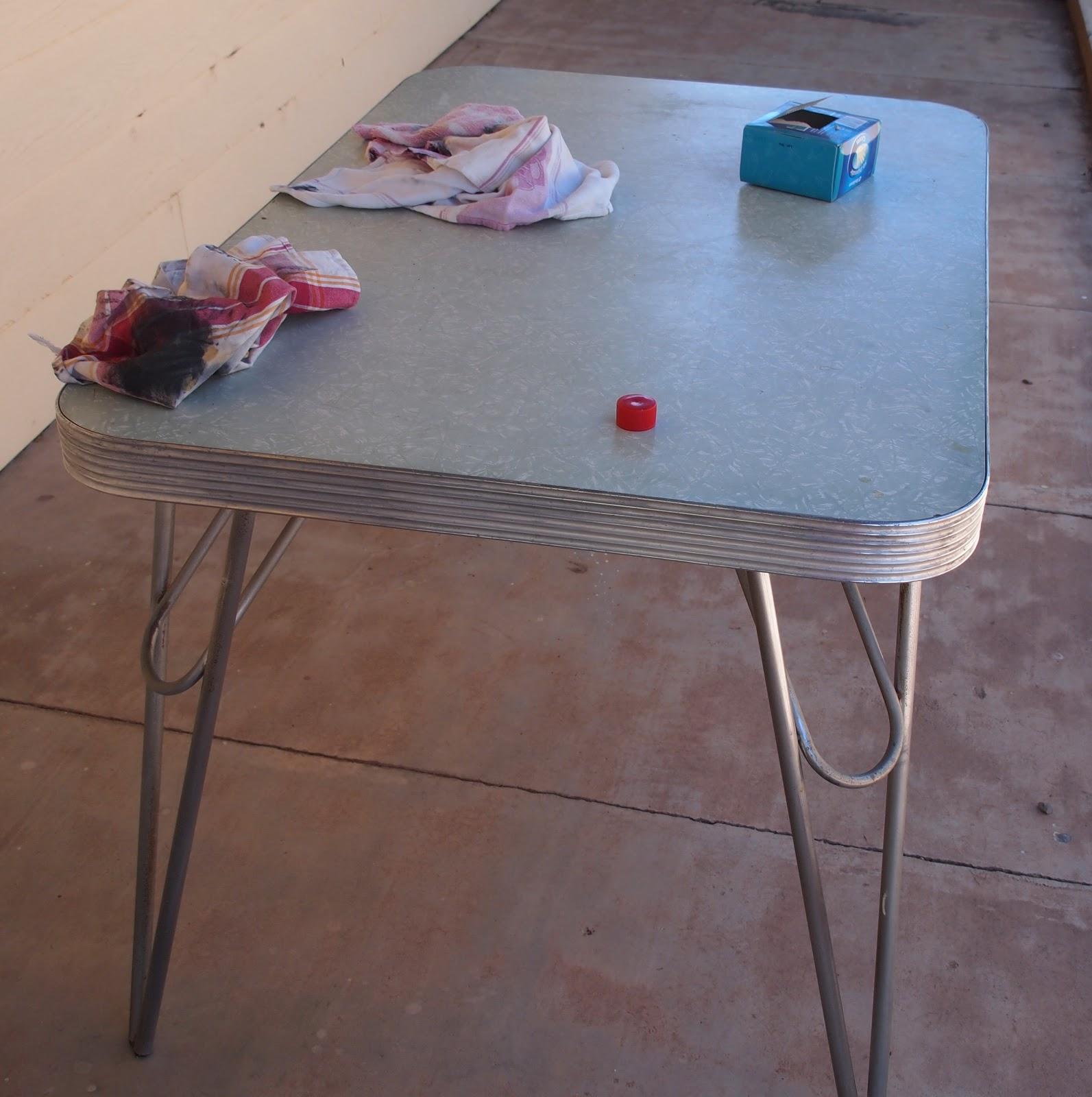fixing up s chrome kitchen table s kitchen table Fixing up a s chrome kitchen table