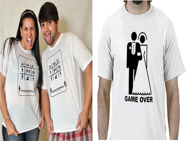 Ideias de camisas divertidas para noivos
