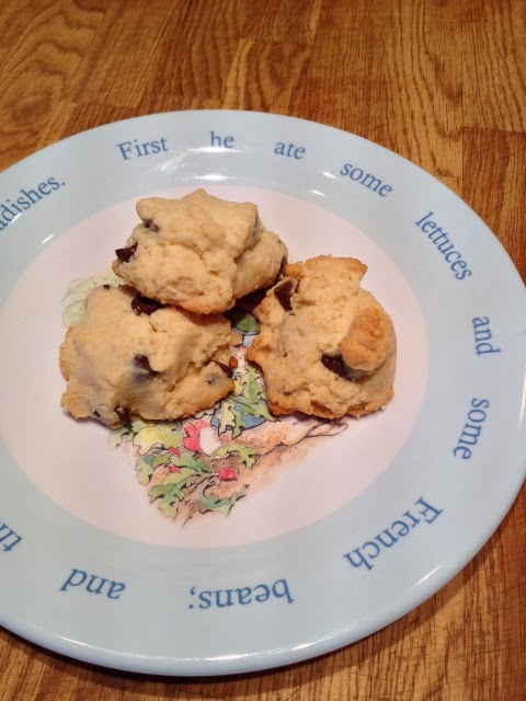 gluten free, sugar free chocolate chip cookies