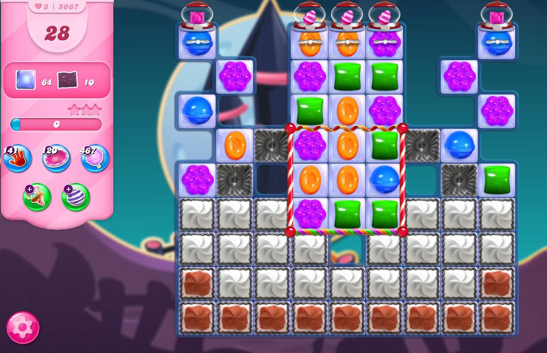Candy Crush Saga level 5667