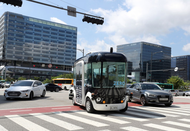 Tinuku South Korea begins autonomous shuttle test run
