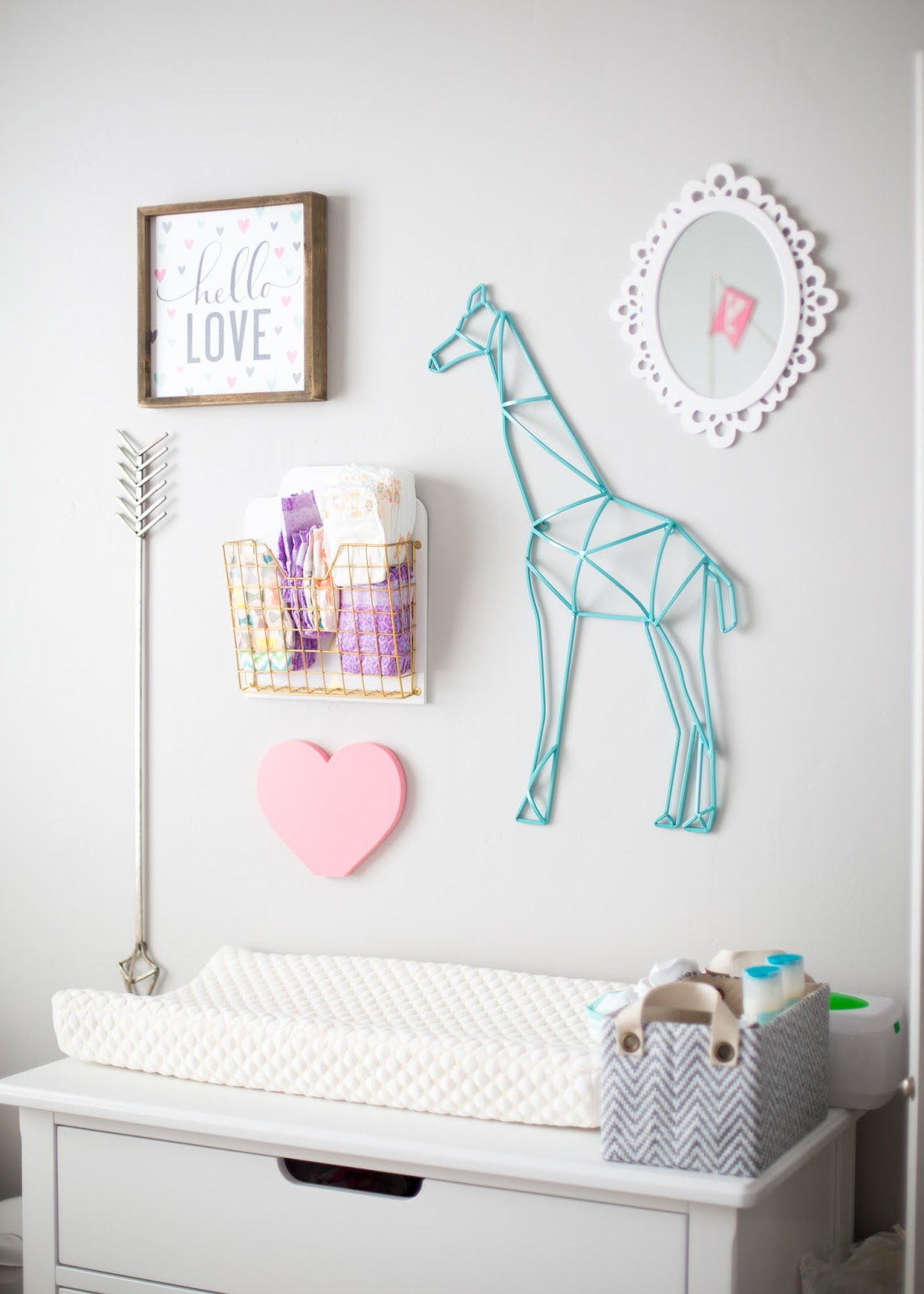 Baby Girl Nursery, Girl Nursery Ideas, Changing Table Ideas, Baby Girl Changing Table